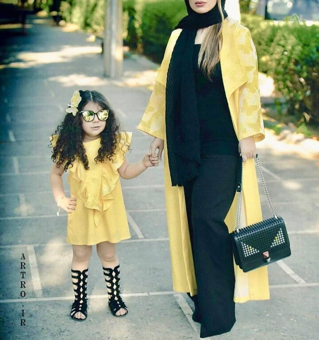 مدل ست مانتو مادر دختر