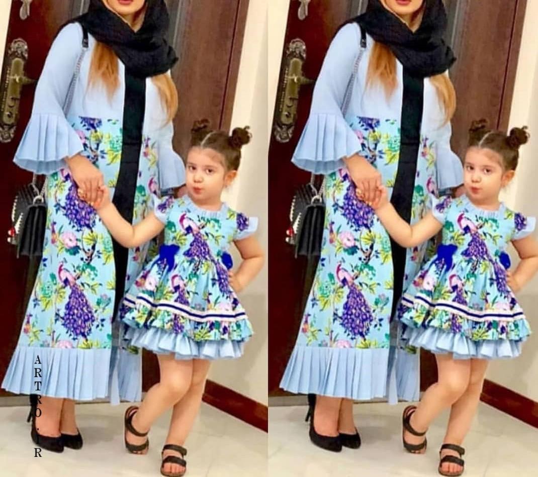 ست مدل مانتو مادر و دختر جدید 2019