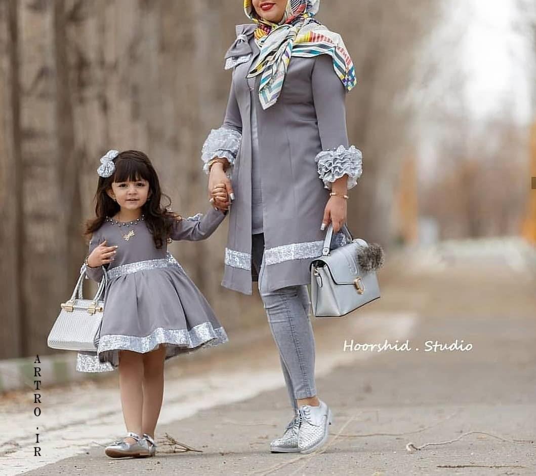 انواع مدل مانتو ست مادر و دختر