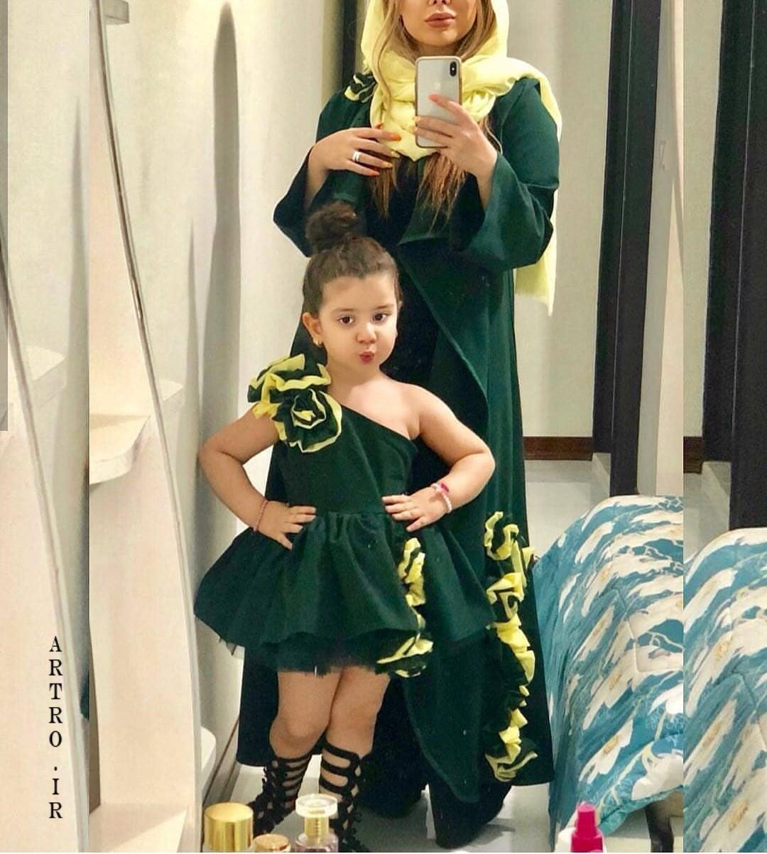 ست مدل مانتو عید مادر و دختر 98