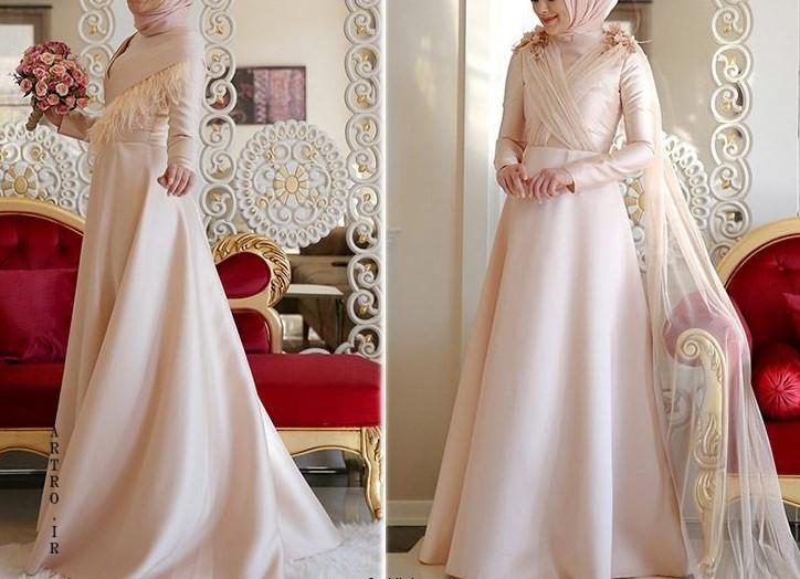 مدل لباس عروس باحجاب جدید