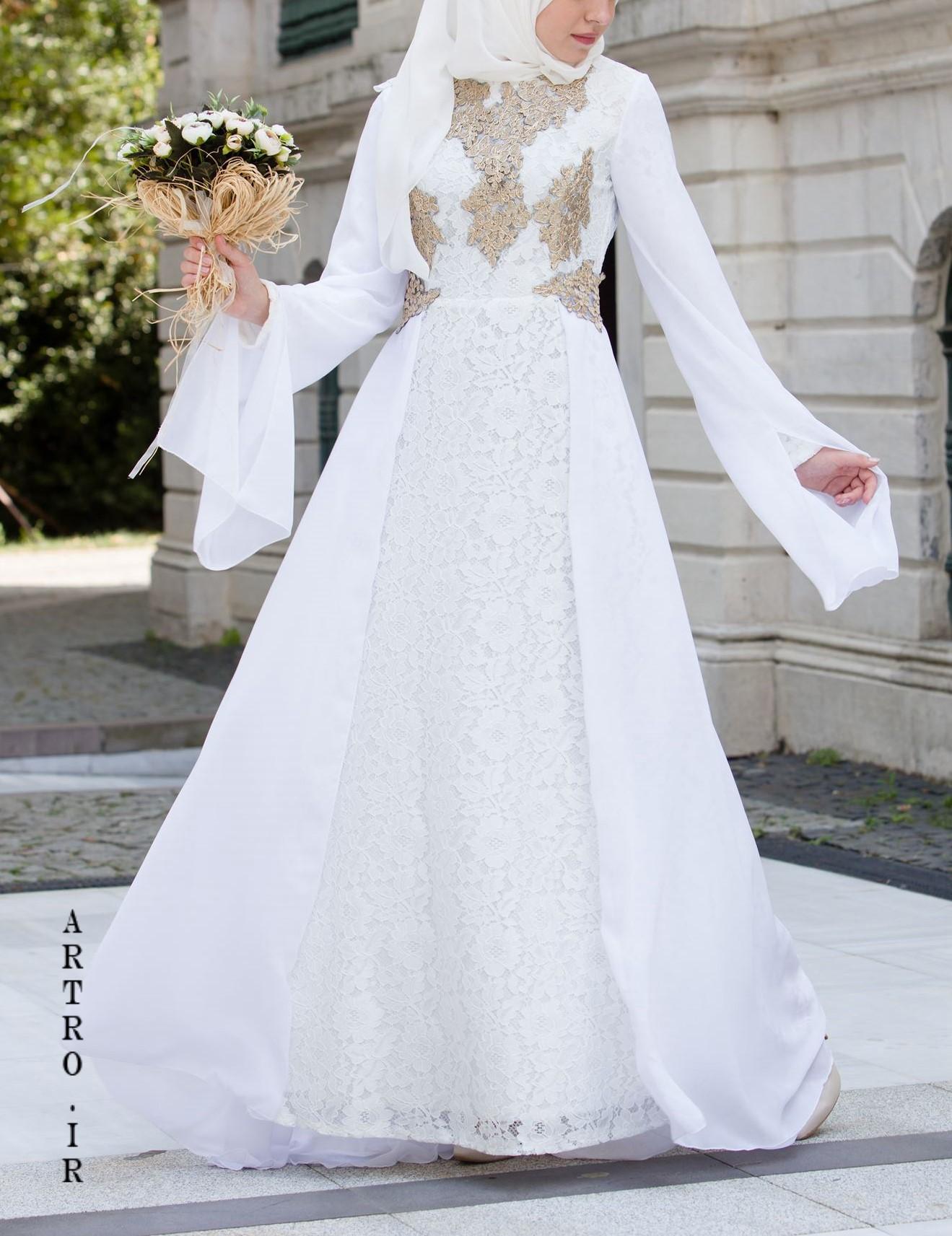 مدل لباس عروس باحجاب پرنسسی