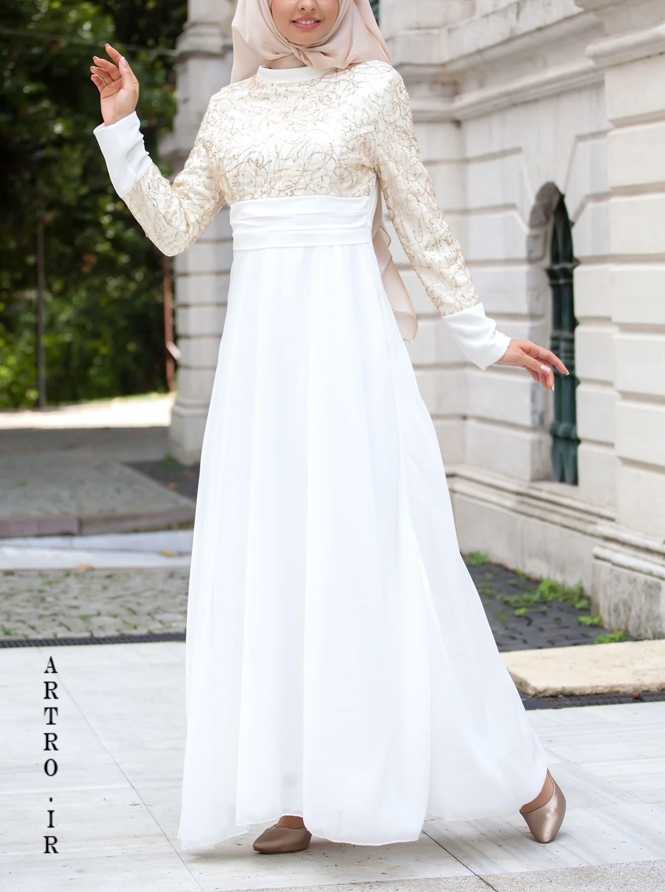 مدل های جدید لباس عروس با حجاب