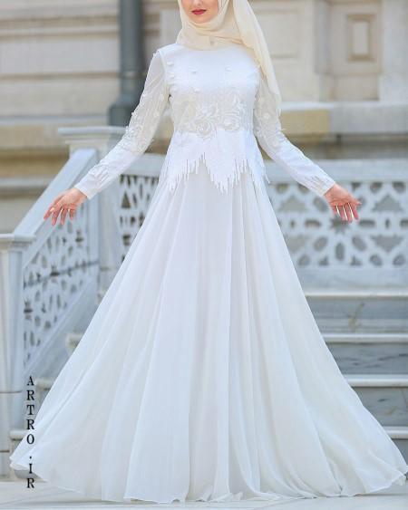 مدل لباس عروس اسلامی با حجاب