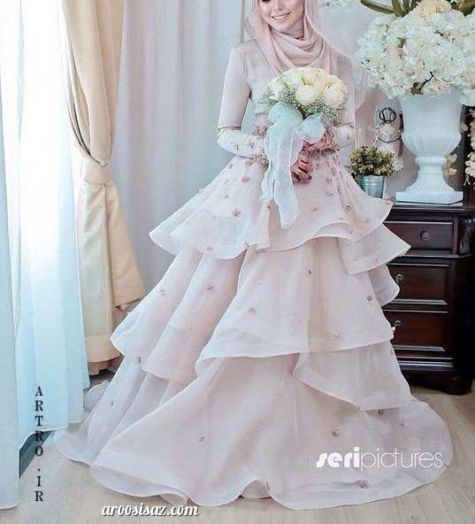 مدل لباس عروس جدید پرنسسی