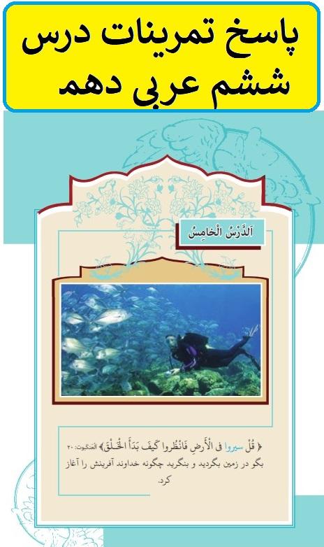 پاسخ تمرینات درس ششم عربی دهم