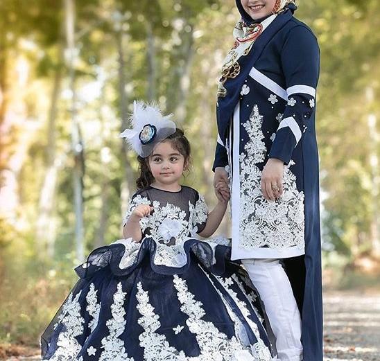 ست لباس و مانتو مادر و دختر