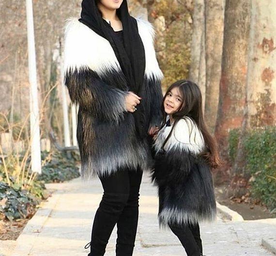 ست مانتو مادر و دختر برای عید