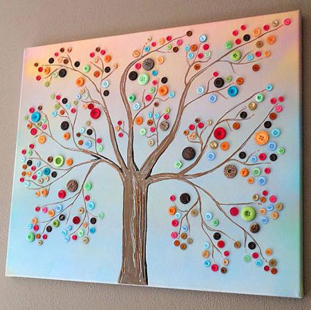 ایده هایی برای ساخت تابلو با دکمه, تابلوهای هنری با دکمه
