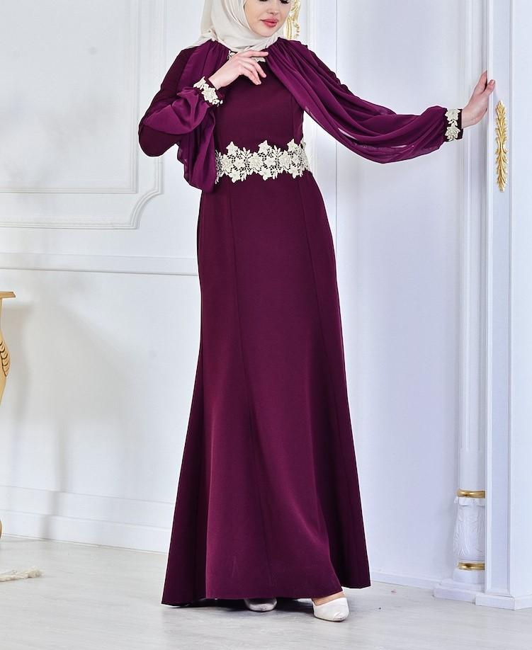 مدل لباس مجلسی دخترانه بلند استین دار