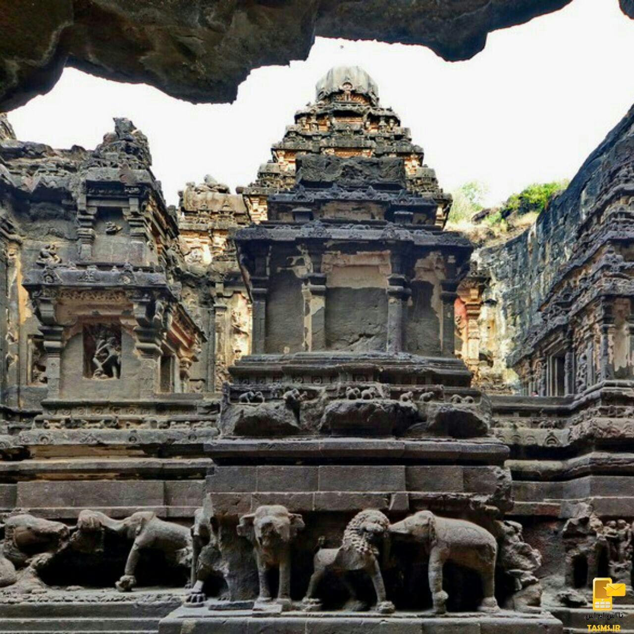 معبد كايلاسا، معبدى كه از بالا به پايين ساخته شده است!