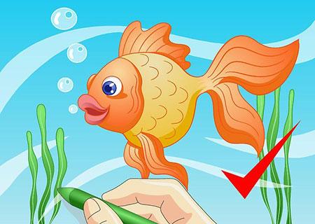 روش کشیدن نقاشی ماهی کارتونی