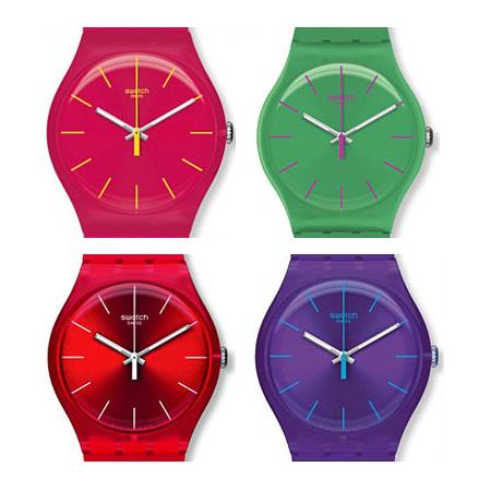 خرید ساعت مچی رنگی سواچ طرح ربل rebel