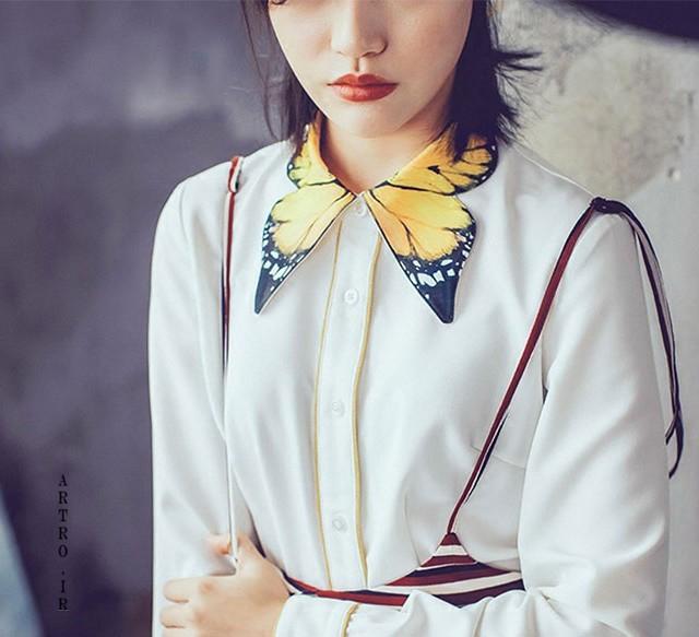 مدل تزیین یقه لباس