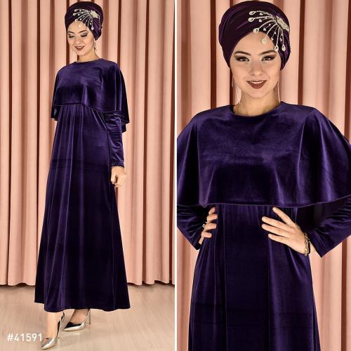 مدل لباس مجلسی بلند مخمل