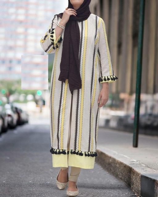 مدل مانتو تابستانی با پارچه نخی 8