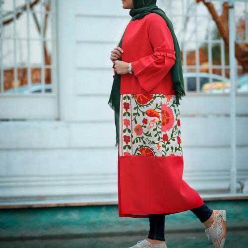 مدل مانتو طرح سنتی بلند