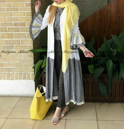مدل مانتو بلند بدون دکمه عید نوروز