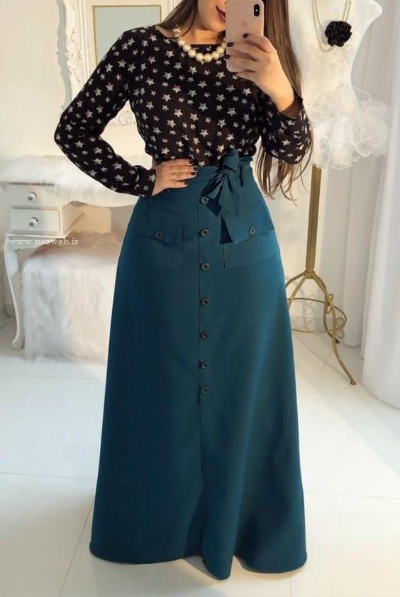 مدل دامن بلند شیک ایرانی
