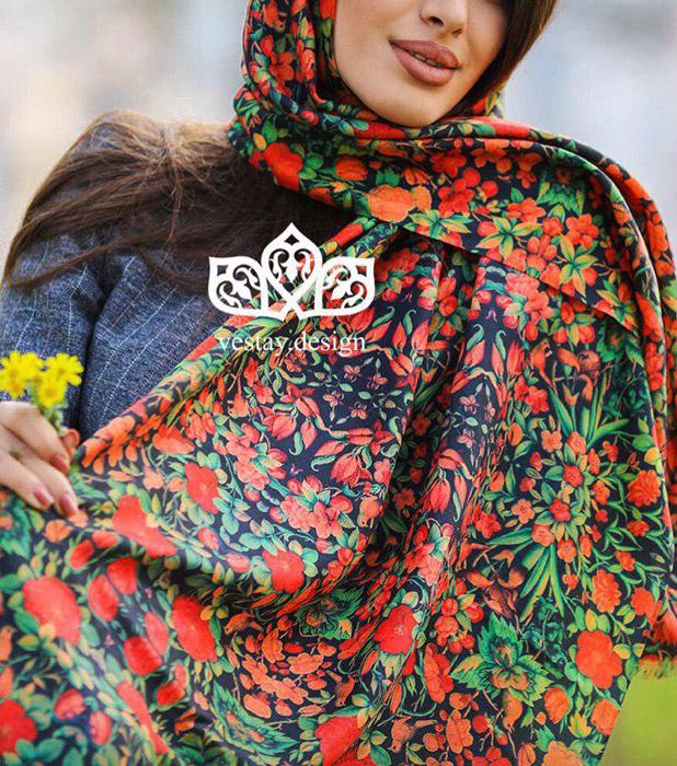 روسری نخی طرح سنتی ,