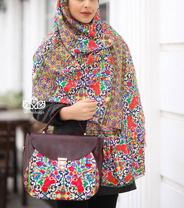 روسری طرح سنتی با کیف