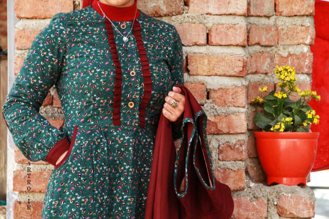 مدل مانتو سنتی با پارچه گلدار