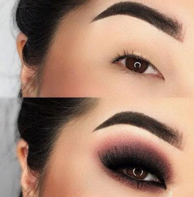 آرایش چشم پف دار,چشم پف دار,پف چشم