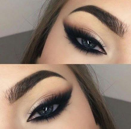 آرایش چشم پفدار