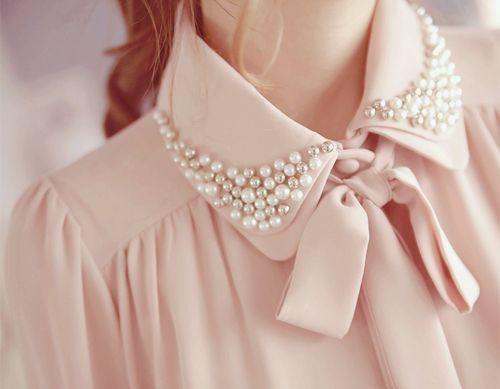 مدل تزیین یقه لباس دخترانه زنانه
