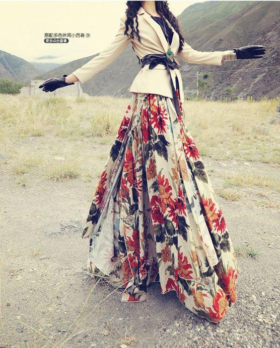 مدل دامن بلند کلوش