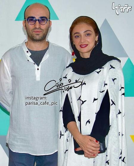 ویدا جوان و همسرش در یک گالری