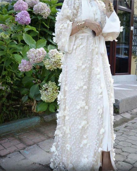 مدل مانتو عروس پوشیده شیک 2019
