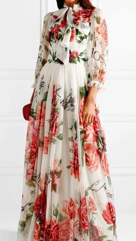 مدل لباس بلند دخترانه استین دار