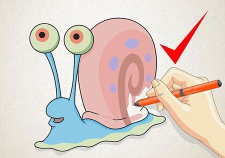 آموزش کشیدن نقاشی حلزون