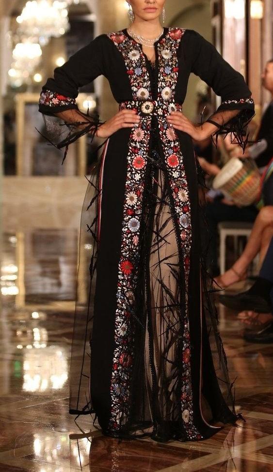 مدل لباس مجلسی بلند گیپور 2019