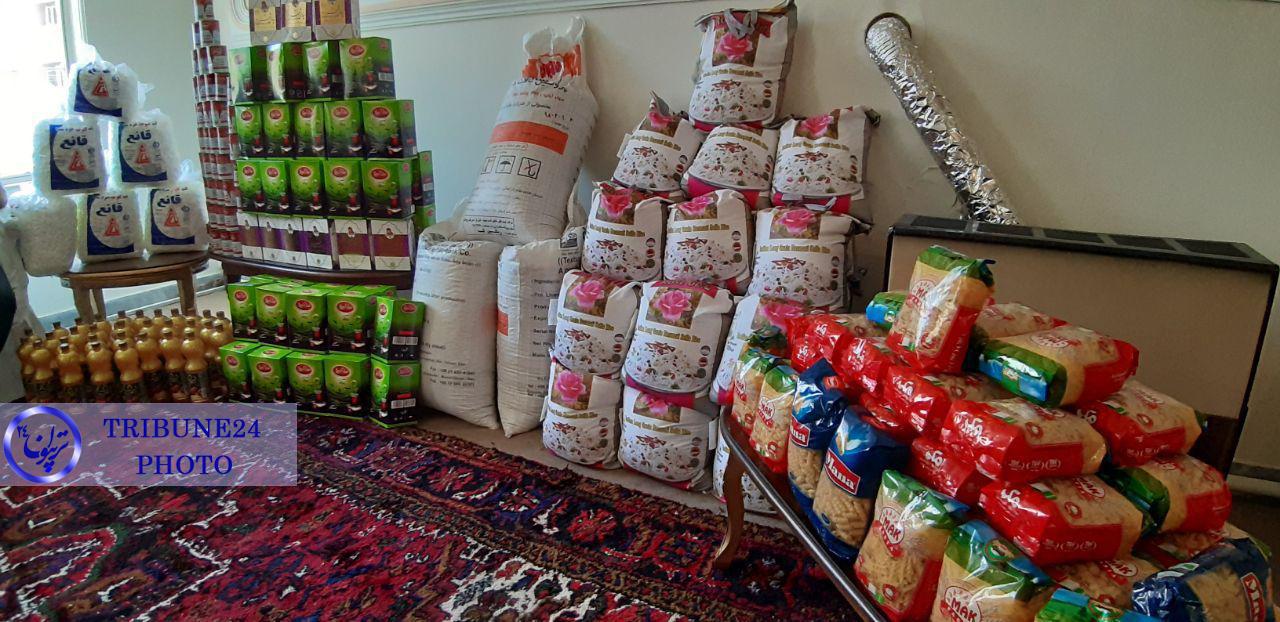 توزیع یک تن جیره خشک همزمان با لیالی قدر بین خانوارهای تحت پوشش مرکز نیکوکاری نبض امید