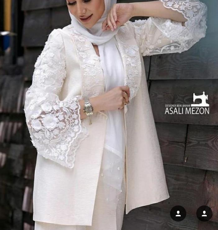 مدل مانتو و لباس عروس اینستاگرام 8