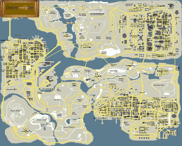 نقشه به سبک گوگل مپ نسخه2 برایgta sa