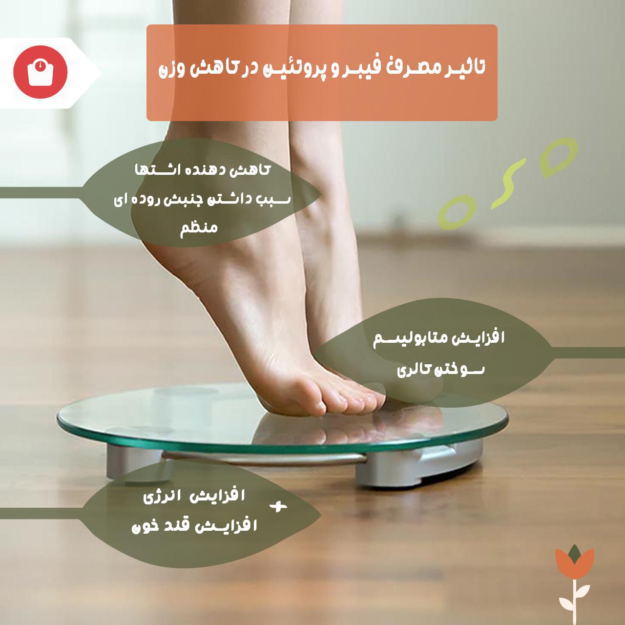 تاثیرات مصرف فیبر و پروتئین در کاهش وزن