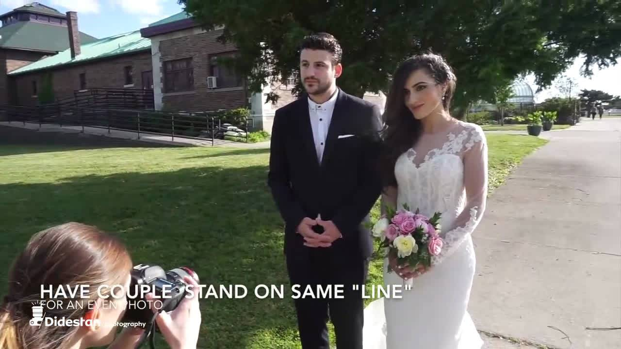 آموزش عکاسی عروسی در فضای باز و با نور طبیعی