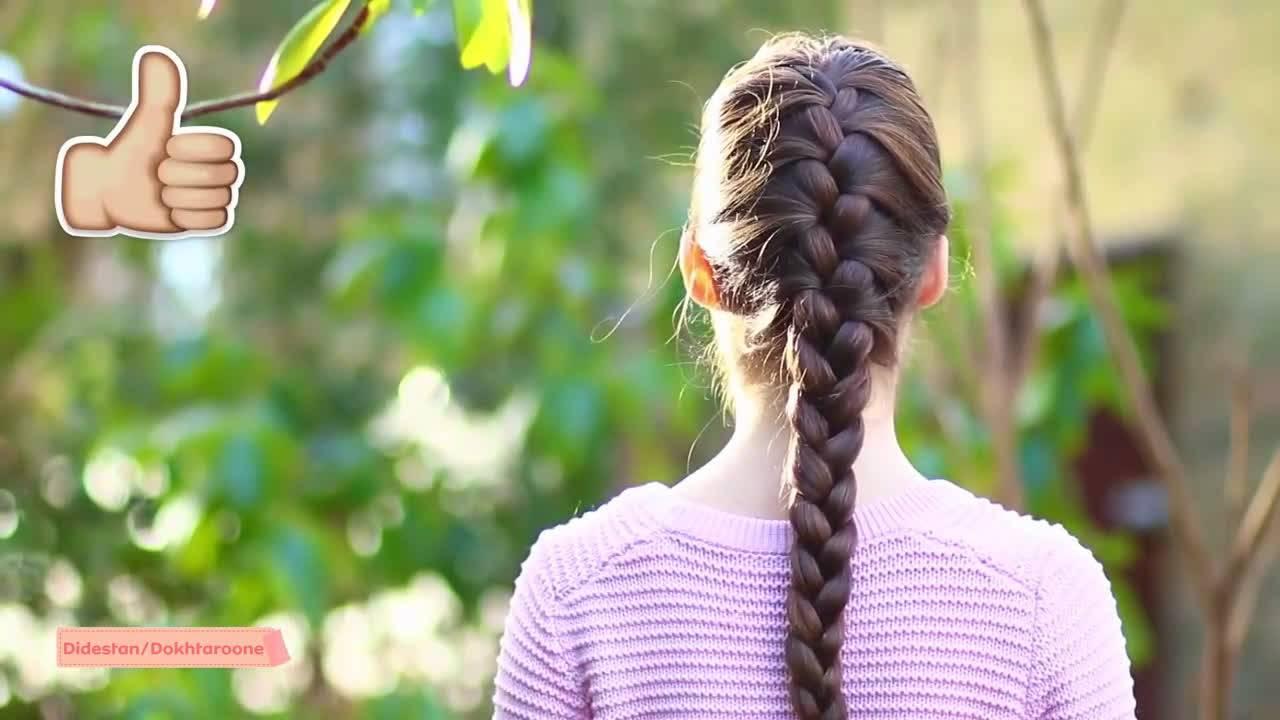 آموزش مدل بافت مو فرانسوی برای موهای بلند