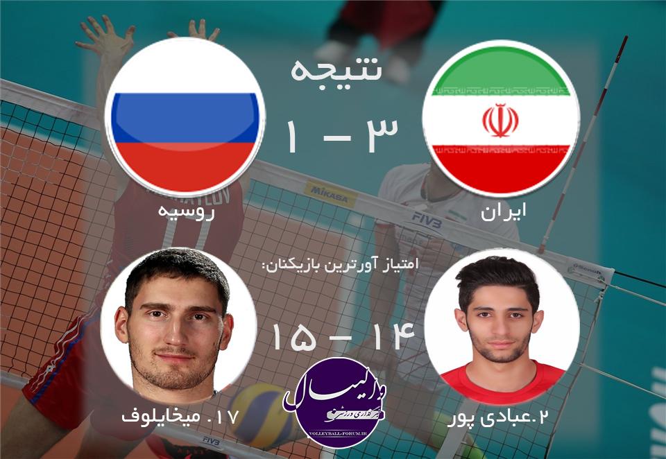 اولین پیروزی ایران در لیگ جهانی