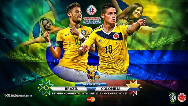 پایان بازی : برزیل 0 - 1 کلمبیا
