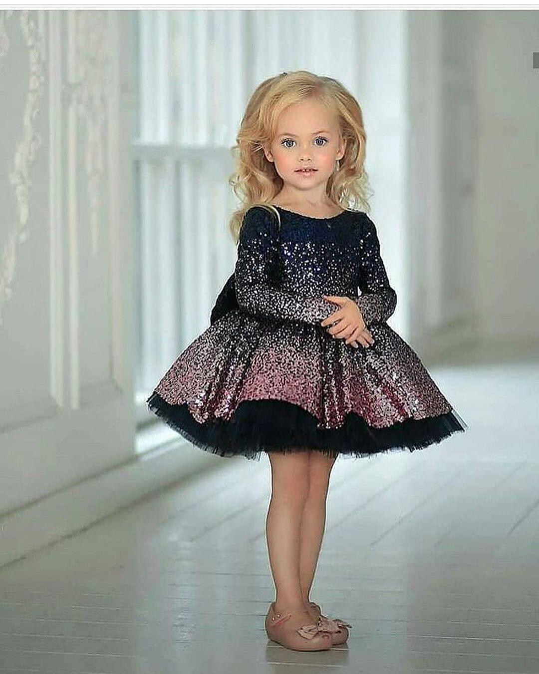 مدل لباس مجلسی دختر بچه جدید 98