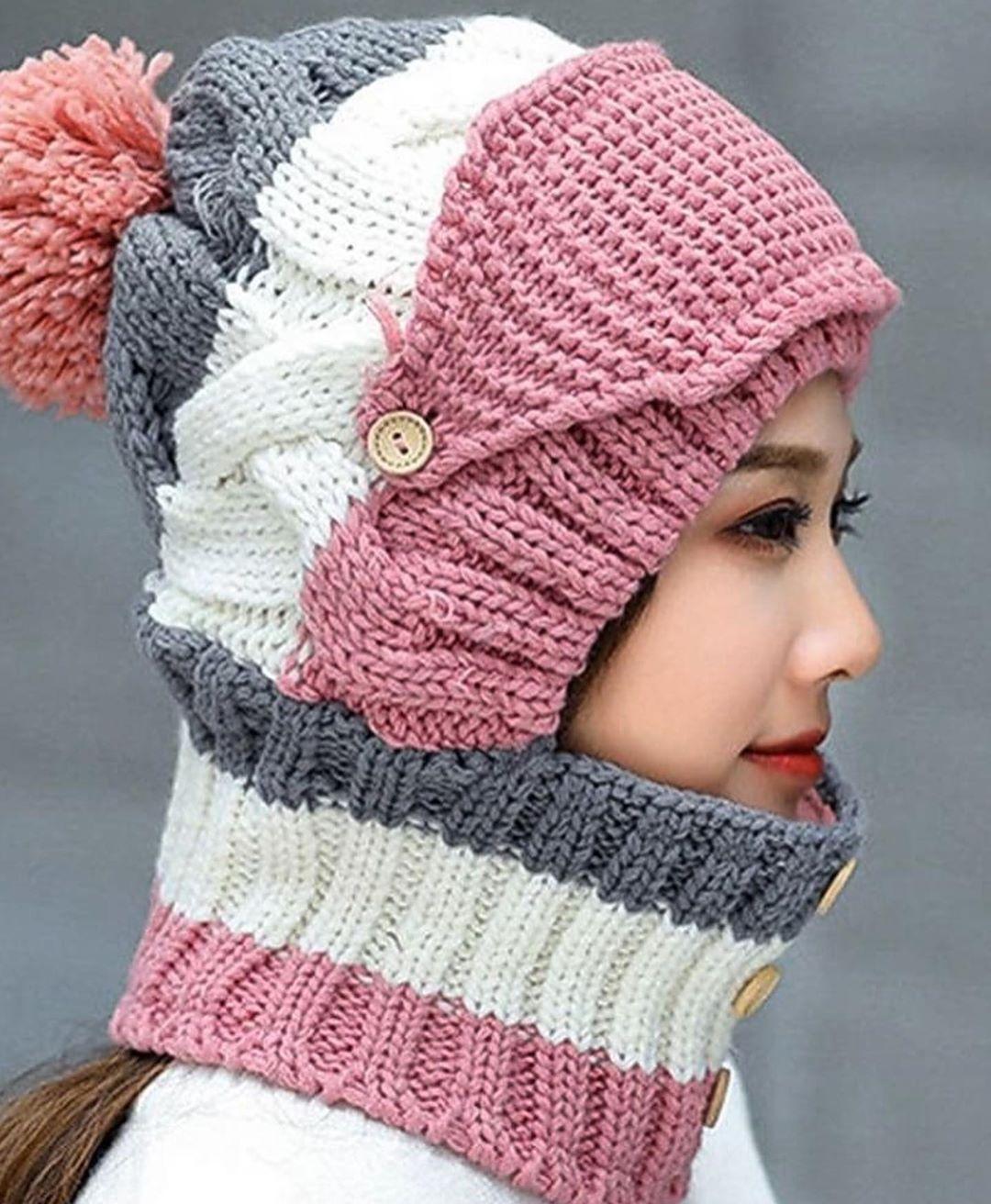 مدل کلاه بافتنی دخترانه2019
