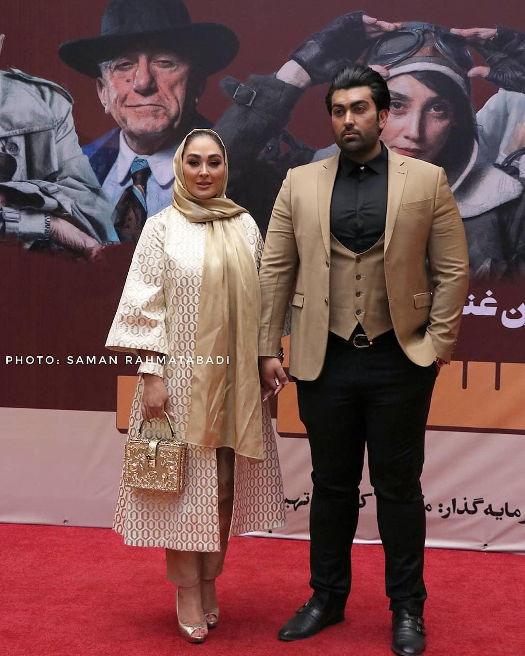 الهام حمیدی و همسرشون در اکران خصوصی فیلم مسخره باز