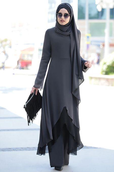 مدل مانتو بلند پوشیده