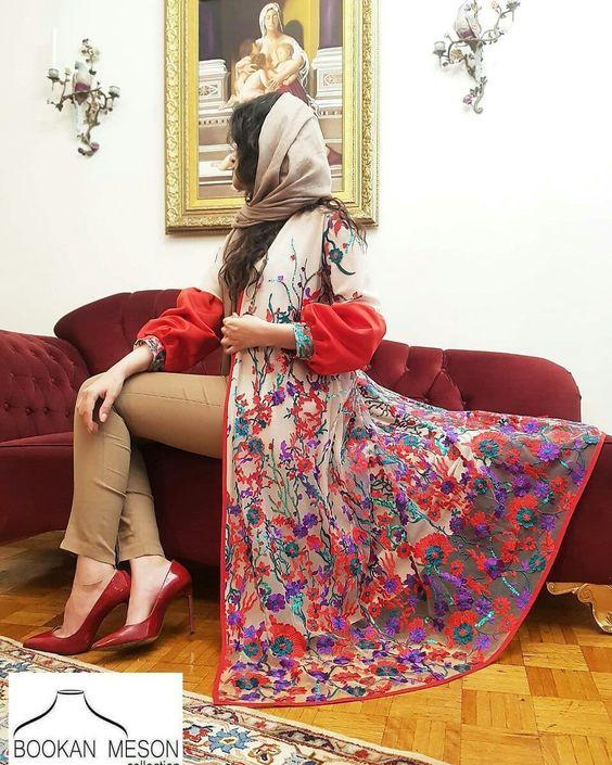 مدل مانتو بلند مجلسی دخترانه