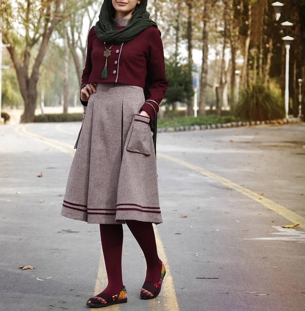 مدل مانتو سنتی بلند