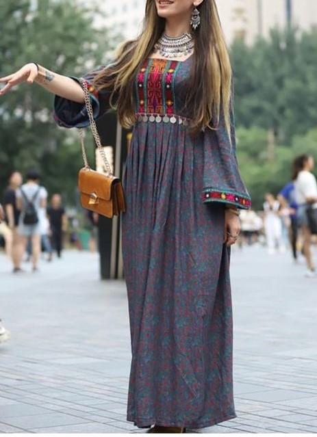 مدل مانتو سنتی افغانی